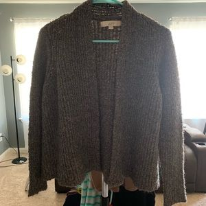 Grey cardigan sweater